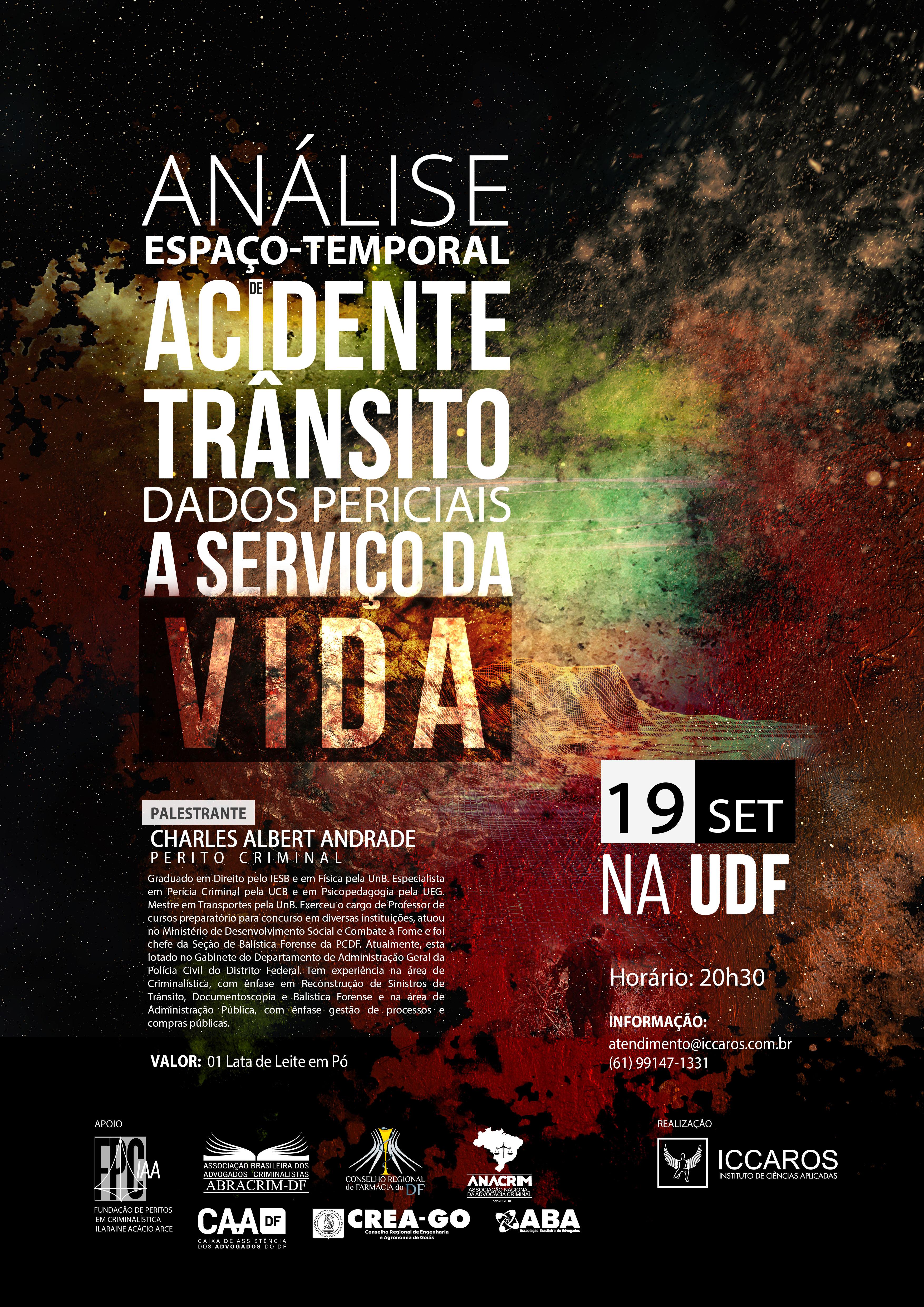analise espaço temporal acidente de transito
